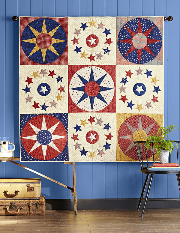 Give it a Whirl Pattern Throws Fourth of July Quilts  American Patchwork & Quilting