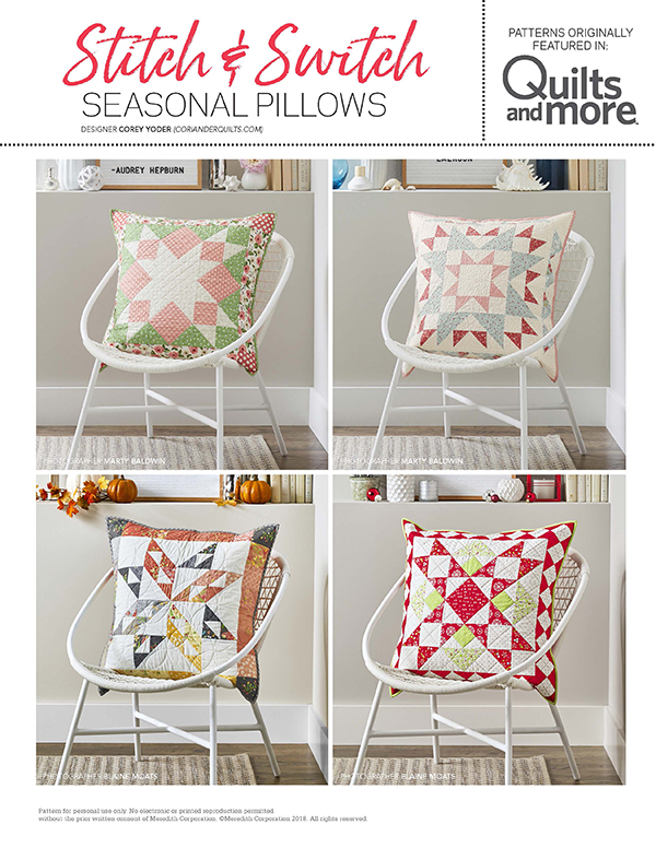Stitch & Switch Seasonal Pillows
