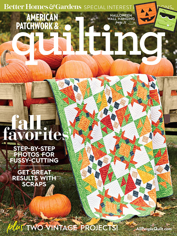 American Patchwork & Quilting October 2018, Issue 154