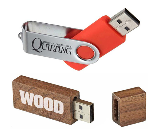 Bundle: American Patchwork & Quilting USB + WOOD Magazine USB