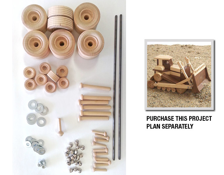 Construction-Grade Bulldozer Project Kit