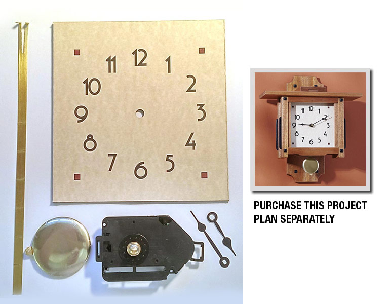 Greene & Greene Wall Clock Project Kit