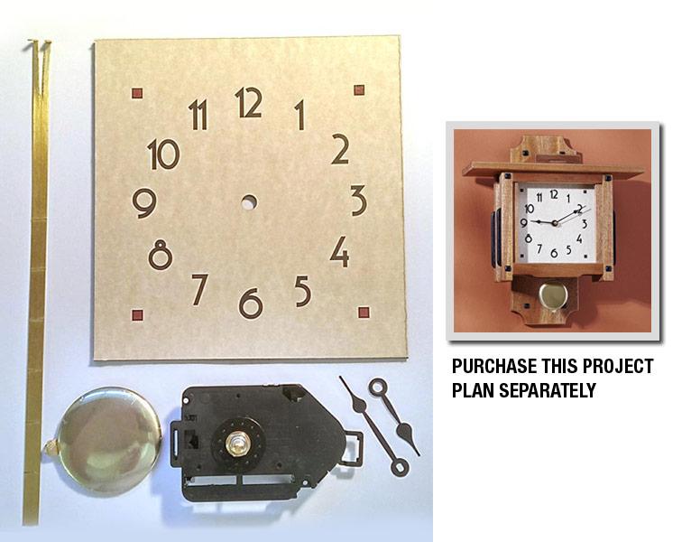 Greene & Greene Wall Clock Project Kit