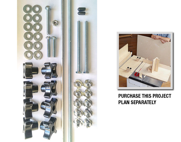 5 Essential Tablesaw Jigs Hardware Kit
