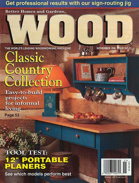 WOOD Issue 92, November 1996