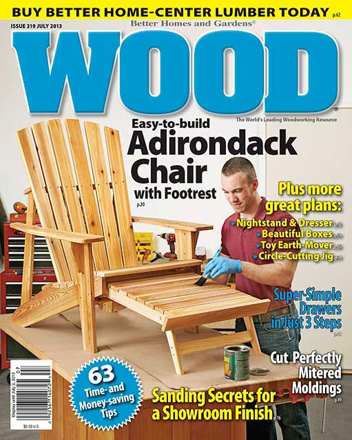 WOOD Issue July Woodworking Plan From WOOD Magazine - Better homes and gardens wood magazine