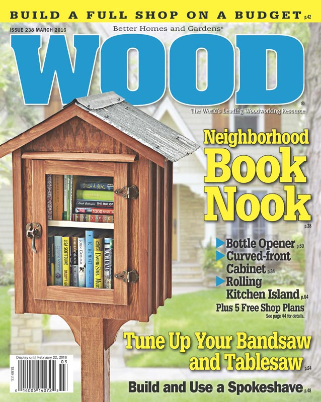 WOOD Issue March Woodworking Plan From WOOD Magazine - Better homes and gardens wood magazine