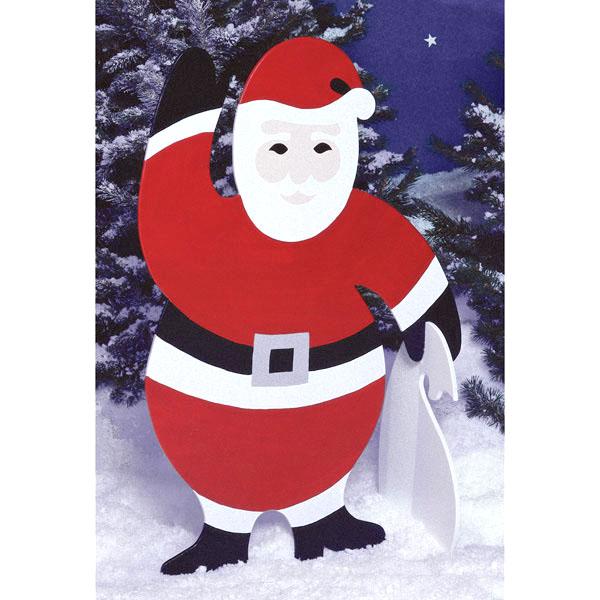 4-foot Santa : Large-format Paper Woodworking PlanOutdoor Seasonal Yard Figures Holidays