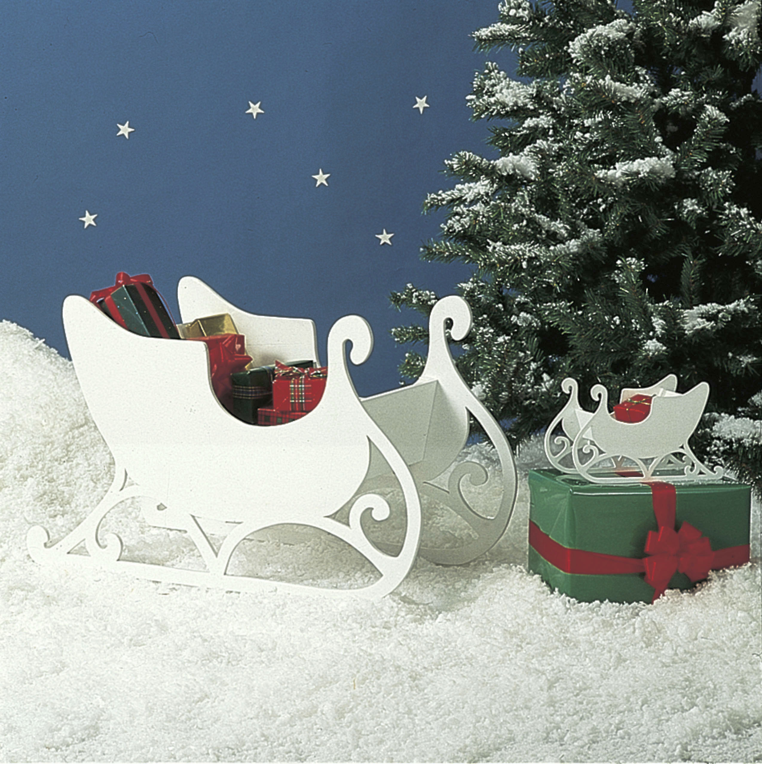 medium small sleigh large format paper woodworking plan - Decorative Christmas Sleigh Large