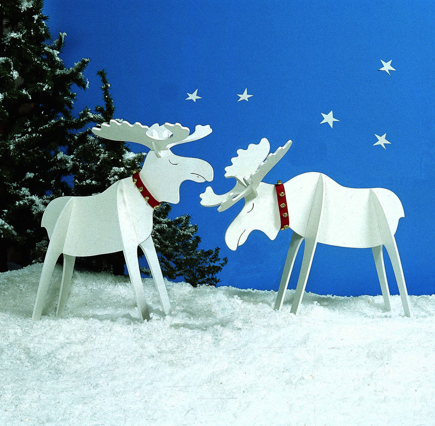 Merry Yuletide Moose : Large-format Paper Woodworking Plan