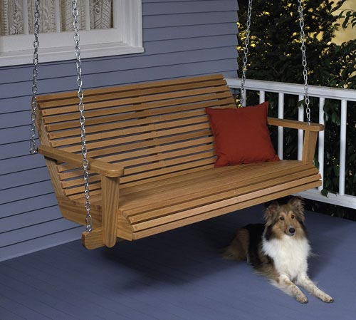 Porch Swing Large Format Paper Woodworking Plan From