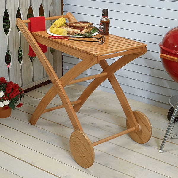Party-Time Cart : Large-format Paper Woodworking PlanOutdoor Outdoor Furniture