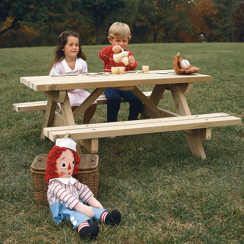 Kids Picnic Table Largeformat Paper Woodworking Plan From WOOD - Large outdoor picnic table
