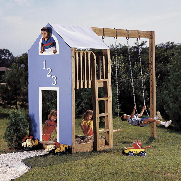 Kid's Play Structure : Large-format Paper Woodworking Plan