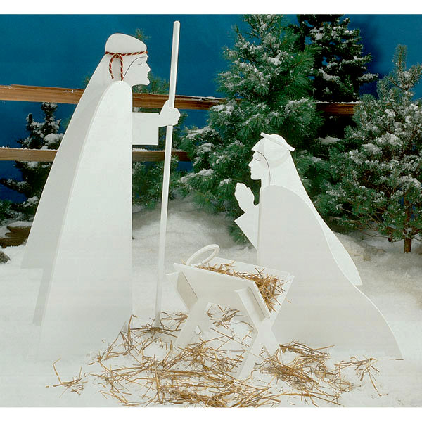 Nativity Scene : Large-format Paper Woodworking PlanOutdoor Seasonal Yard Figures Holidays