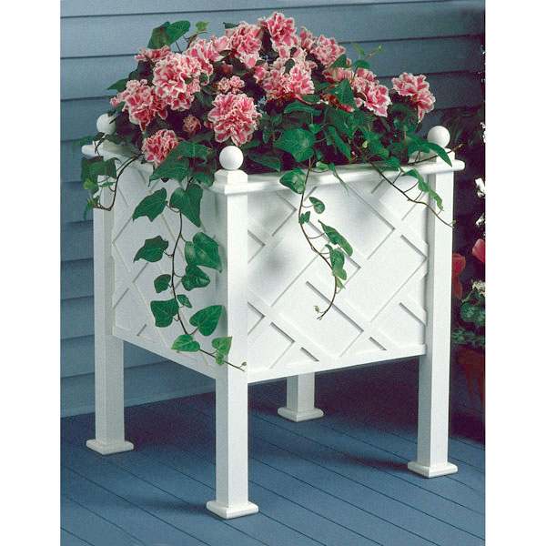 Stately Planter : Large-format Paper Woodworking Plan