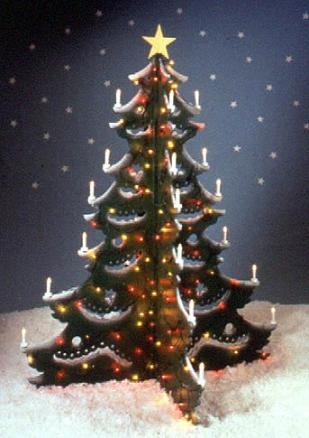 4-foot Christmas Tree : Large-format Paper Woodworking Plan