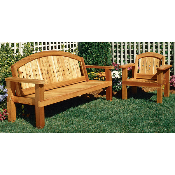 Arched Bench and Chair : Large-format Paper Woodworking Plan