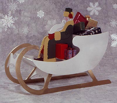 Sleigh For Saint Nick : Large-format Paper Woodworking Plan