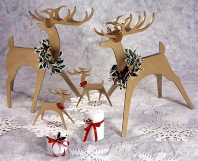 Medium & Tabletop Stylish Reindeer : Large-format Paper Woodworking Plan