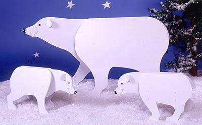 Bears : Large-format Paper Woodworking PlanOutdoor Seasonal Yard Figures Holidays