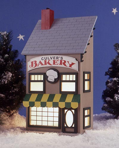 Americana Village? Culver's Bakery : Large-format Paper Woodworking Plan