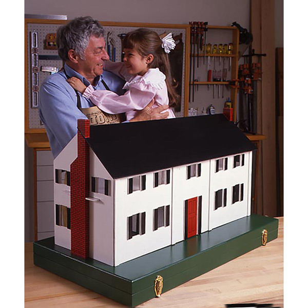Dollhouse : Large-format Paper Woodworking Plan
