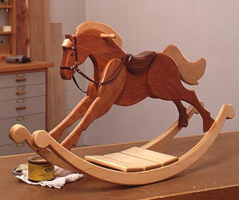 Playroom Palomino Rocking Horse : Large-format Paper Woodworking PlanToys & Kids Furniture