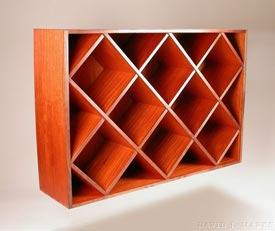 Woodworks Episode 203: Wall Mounted Mahogany Wine Rack - Downloadable Video