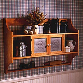 Punched-Tin Wall Cabinet Downloadable Plan