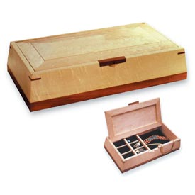 Beveled Beauty Jewelry Box Woodworking Plan, Gifts & Decorations Boxes & Baskets