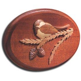 Chickadee Intarsia Plaque