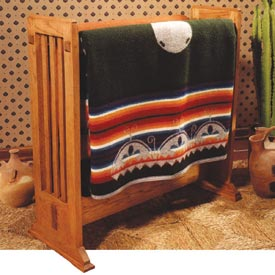 Arts and Crafts Quilt Rack Downloadable Plan