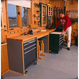 Space-Saving Workbench Downloadable Plan