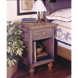 Country-Fresh Nightstand Bedside End Table