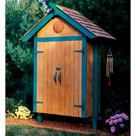 Mini Garden Shed Woodworking Plan, Outdoor Backyard Structures