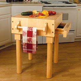 Kitchen Work Center Downloadable Plan