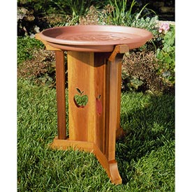 Birdbath Beauty Woodworking Plan, Outdoor For Birds & Pets