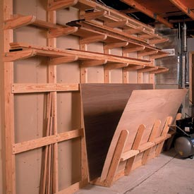 Lumber Storage Rack Downloadable Plan