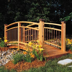 Arched Garden Footbridge Downloadable Plan