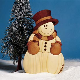 Intarsia Snowman Woodworking Plan, Holidays Gifts & Decorations Scrollsaw, Carving, & Decorative Projects