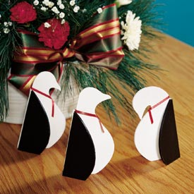 Tabletop Penguins Woodworking Plan, Holidays Gifts & Decorations Scrollsaw, Carving, & Decorative Projects