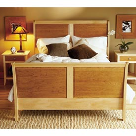 Maple & Cherry Sleigh Bed