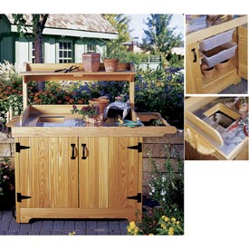 Potting Bench Woodworking Plan, Outdoor Gardening