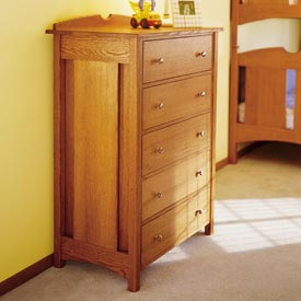 Kid's Oak Dresser Downloadable Plan
