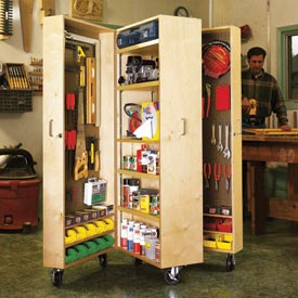 Mobile Tool Cabinet Printed Plan