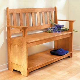 Sit-a-spell hall bench Downloadable Plan