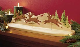 Reindeer in flight Printed Plan