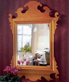 Build an original Chippendale mirror Woodworking Plan, Furniture Mirrors