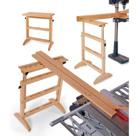 3-in-1 Work Support Woodworking Plan, Workshop & Jigs Tool Bases & Stands
